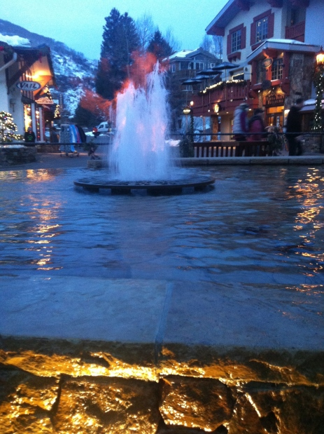 Fire water in Vail,CO.