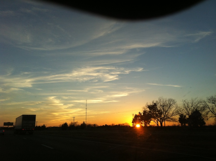 A Texas sunset for the drive back to my house.